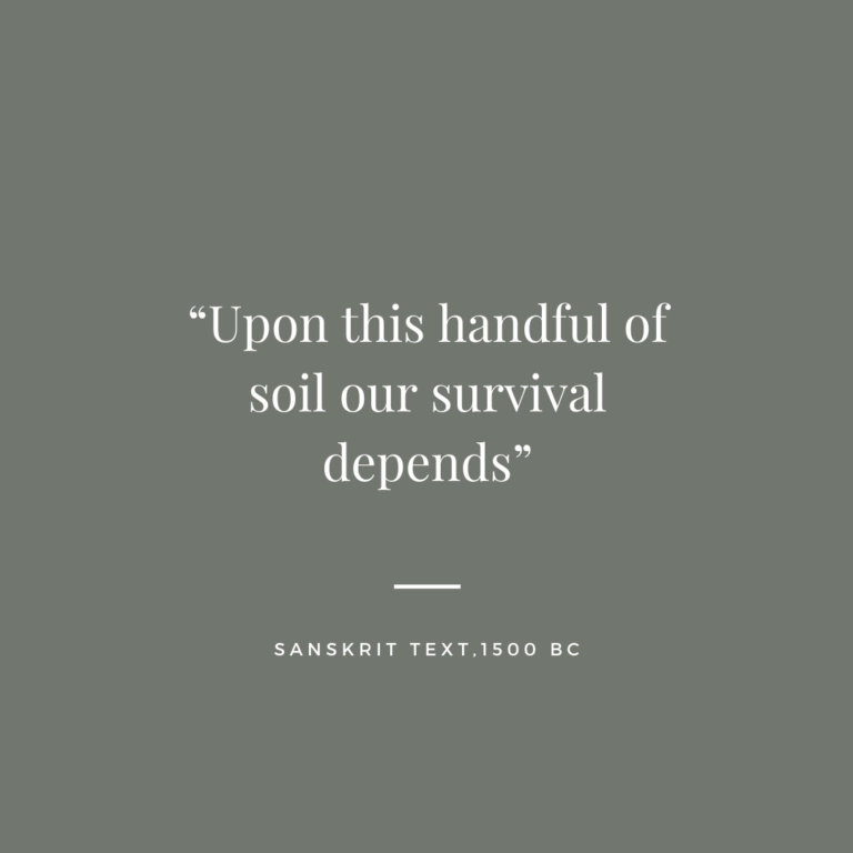 """""""Upon this handful of soil our survival depends""""_"""